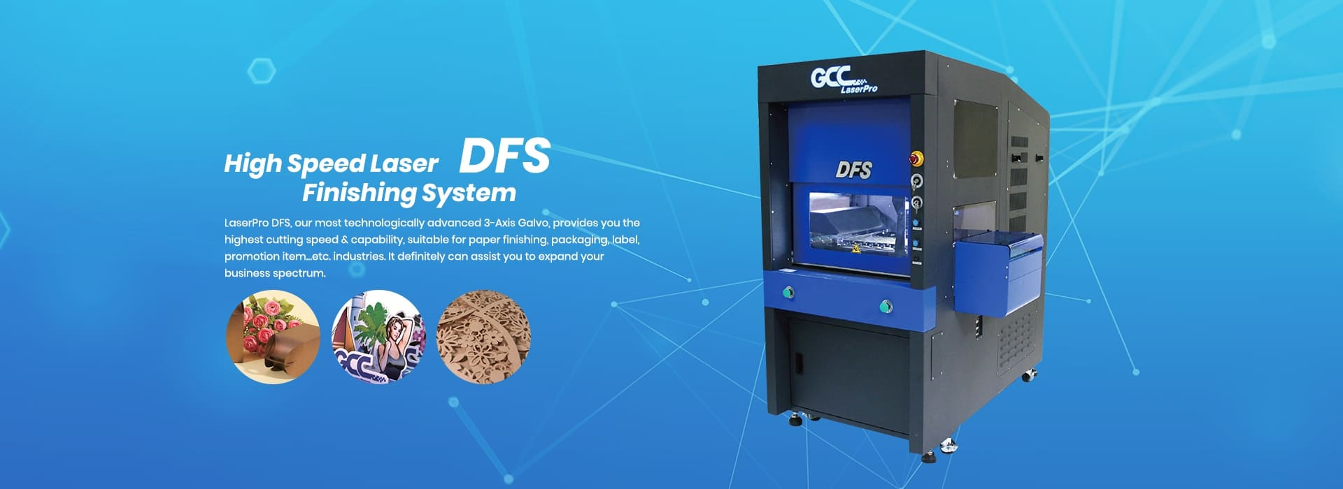 GCC DFS 提供於印刷產品的高速雷射系統